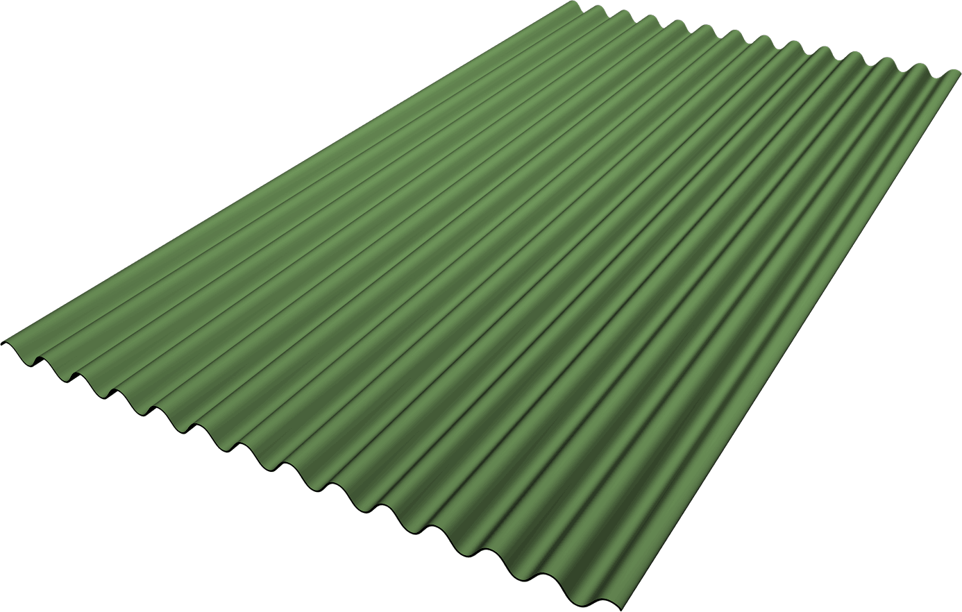 Roofing & Siding Panel - Corrugated 1/2""